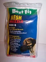 Dog Muzzle Sz. 8 Small Dogs Adj Nylon Head Strap Coastal Control Biting ... - $19.79
