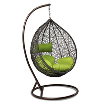 Hanging Hammock Proch Swing Chair Outdoor Egg Chair Green Cushion New - $569.96