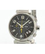 3 Louis Vuitton Men Tambour Q1121 SS Chronograph Brown Dial self-winding... - $3,643.93