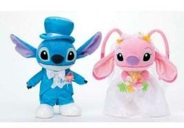 Disney Stitch & Angel Wedding doll Bridal stuffed toy Welcome doll Plush... - $133.65