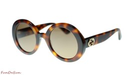 Gucci Women's Sunglasses GG0319S 002 Havana Brown Lens 52mm Authentic - $212.43