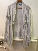 Gap Womens Open Front Cardigan Sweater Light Gray Size Large - $16.95