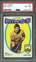 1971 Topps Hockey #47 Bill Flett Psa 8 (NM-MT) Los Angeles Kings - $12.82