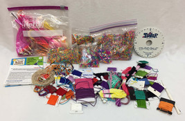 Weave Wheel Landyard Maker Instructions Neon Beads Cord Carded Thread Fl... - $15.83