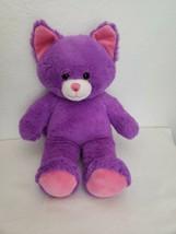"Build A Bear Workshop Cat Purple Pink Ears Plush Stuffed Animal 15"" - $19.78"