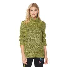 DG2 by Diane Gilman Marled Turtleneck Sweater in Citrine, Medium - $39.59