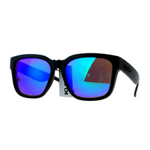 KUSH Sunglasses Designer Fashion Square Black Frame Mirror Lens UV 400 - $9.95