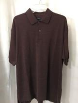 #501--  IZOD mens purple polo knit shirt, size XL - $14.66