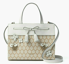 Kate Spade Hayes Bee Embellished Small Convertible Satchel Tote Crossbod... - $170.98 CAD