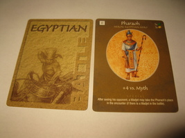 2003 Age of Mythology Board Game Piece: Egyptian Battle Card - Pharaoh - $1.00