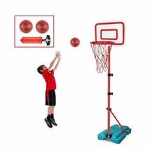 E EAKSON Kids Basketball Hoop Stand SetAdjustable Height 2.9 ft -6.2 ft ... - $48.64