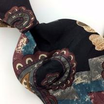 "XL 60"" ZYLOS GEORGE MACHADO USA Made TIE ART DECO BLACK Silk Necktie Tie... - $15.83"