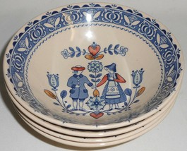 Set (4) Johnson Brothers HEARTS AND FLOWERS PATTERN Cereal Bowls ENGLAND  - $69.29