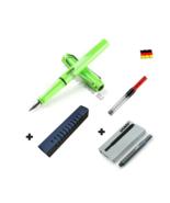 Lamy Safari Green Fountain Pen F Nib Set with Free Converter + 5 black T... - $26.10