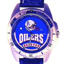 Houston Oilers NFL Fossil, Rare Unworn Mans Vintage 1995, Leather Band Watch $79 - $78.06