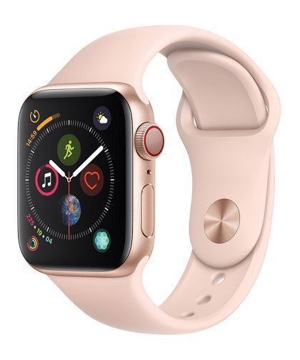 Primary image for Apple Watch Series 4 GPS+CELL 40mm Gold Aluminum  Pink Sand Sport White Box