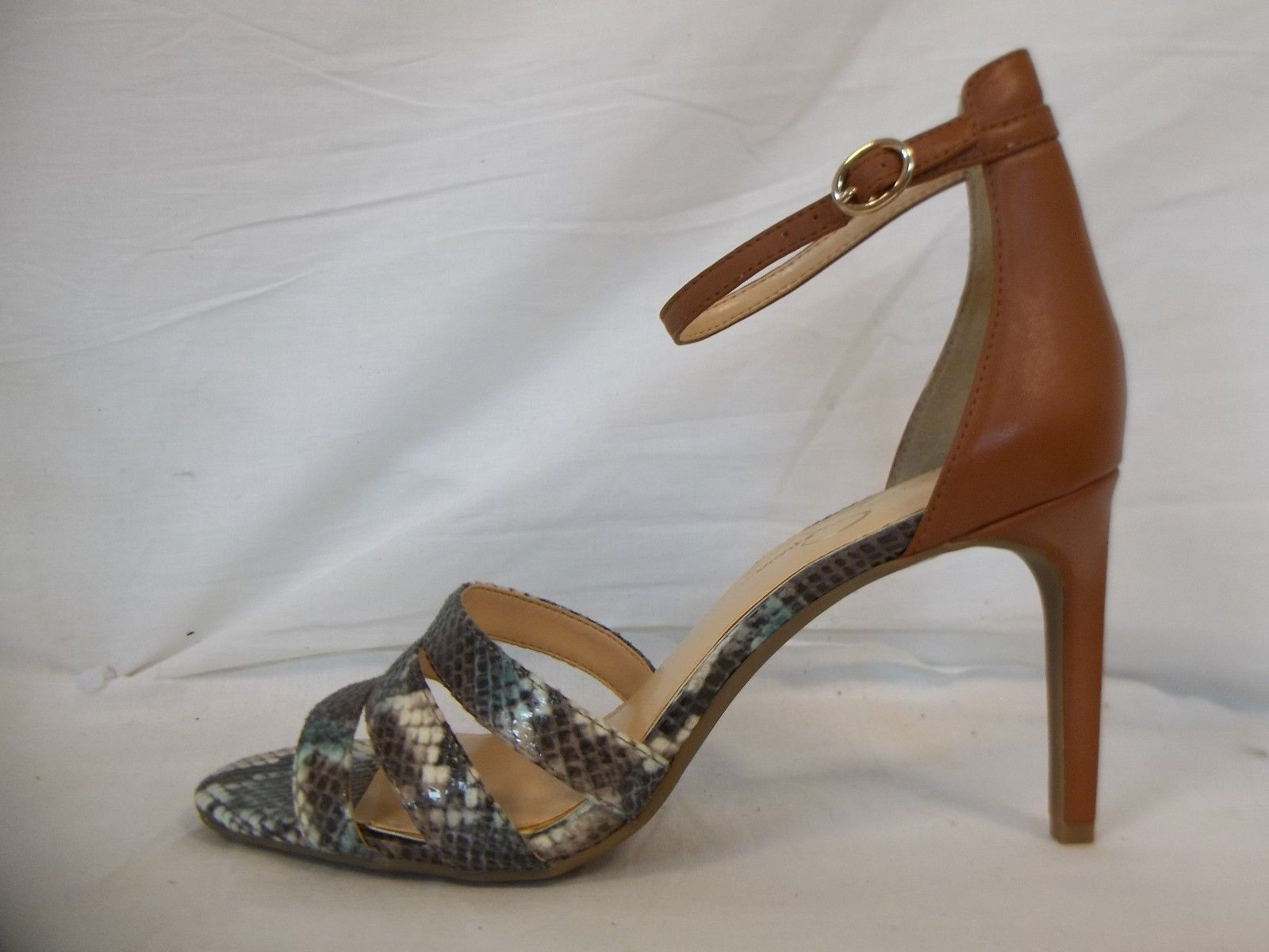 Jessica Simpson 7.5 M Maselli Multi Color Open Toe Heels New Womens Shoes NWOB image 3