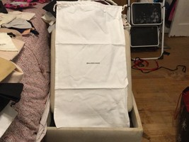 NEW  BALENCIAGA Cotton Drawstring Dust Travel Storage Bag  14x26 huge du... - $22.76