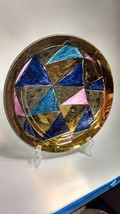 Decorative Glass Plate GUGGENHEIM MUSEUM STEPHANIE MIDDLETON 1993 Metall... - $32.66
