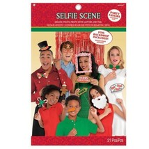 Christmas Selfie Photo Props Deluxe 21 pc - $16.14
