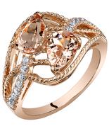 14K Rose Gold 1.50 Carat Pear Shape Morganite Ring - $325.99