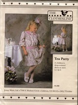UNCUT - THE CLOTHESLINE CL-202 TEA PARTY Child's Dress Sz 4,5,6 - $12.99