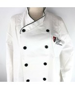 Chef Works White Coat XL International Culinary School Embroidered Black... - $39.59