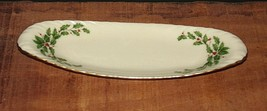 "Lenox Holiday China 9"" Relish Nut Mint Serving Dish - $12.38"