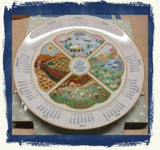Vintage 1986 AVON The Four Season Calendar 1987 Porcelain Collector's Plate~NIB - $10.40