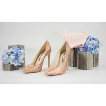 Sophia Webster Rio 100mm Rose Gold Pink Leopard Stilleto Heels Size 37 7 NIB - $291.56