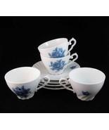 Germany Rheinpfalz Hartporzellan Blue Roses Tea... - $35.00