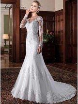 Illusion Vintage Mermaid Wedding Dress 2021 vestidos de novia Embroidery... - $278.00