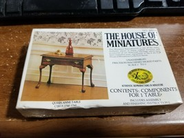 House of Miniatures Queen Anne Table Miniature Dollhouse Furniture KIT 40038 - $12.86