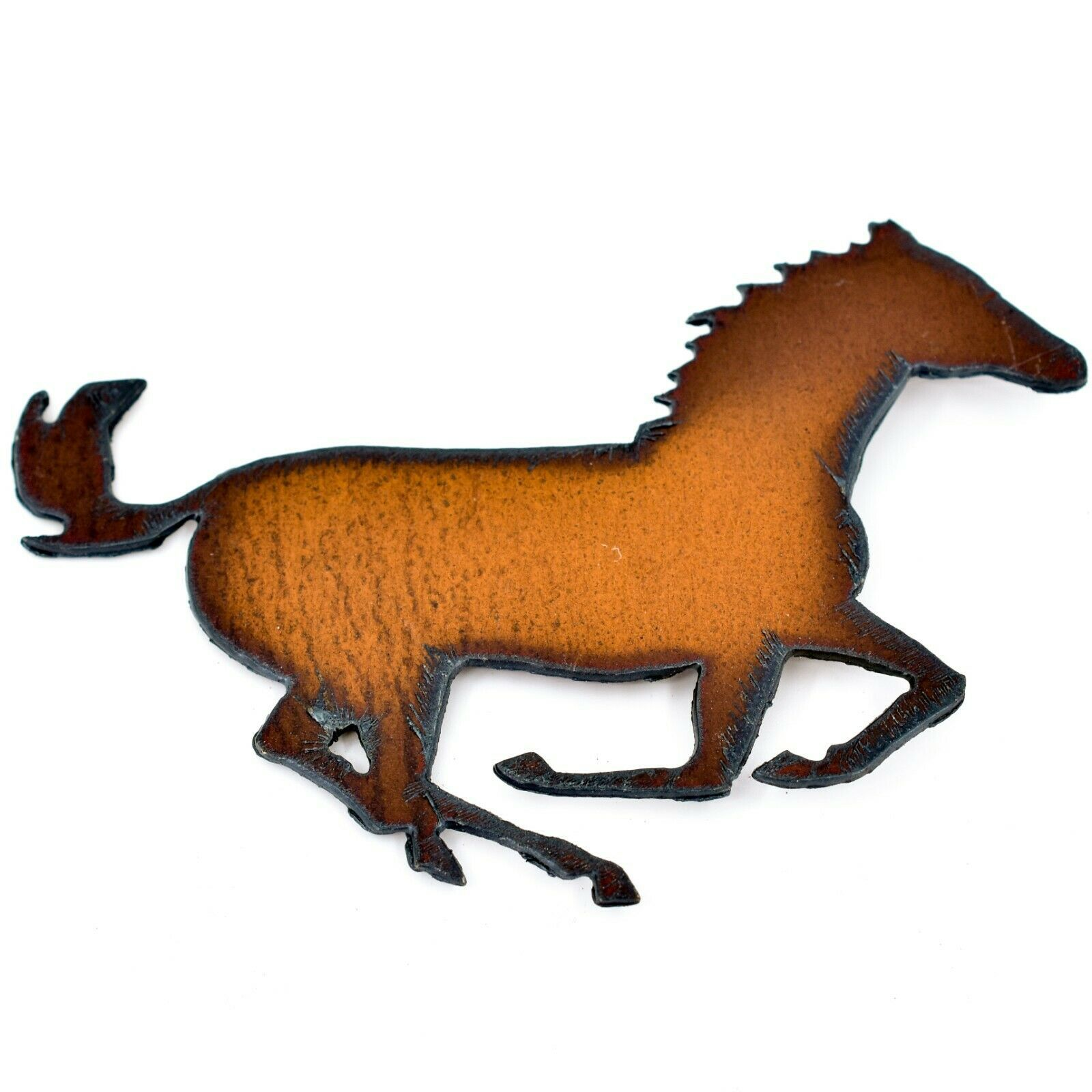 Rustic Country Western Rusted Patina Iron Metal Cutout Horse Refrigerator Magnet
