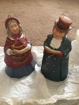 Hallmark Keepsake Christmas Ornam Dickens Caroler Bell Mr Ashbourne Mrs Beaumont - $9.89