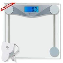 Etekcity Digital Body Weight Bathroom Scale With Body Tape Measure Tempe... - $22.68