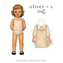 Sewing Pattern - Sizes 4-8 Girls Playdate Dress Smock Clothes Oliver + S... - $15.95