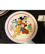 Walt Disney Happy Birthday Pluto Plate by Schmid 1981 2219/7500 Wallhanger - $4.99