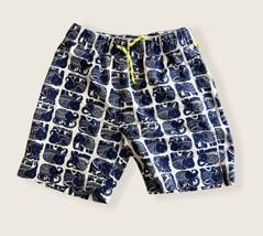 Crewcuts J.Crew Boys Boardshorts Swim Shorts Blue Elephant Size 16 - $14.96