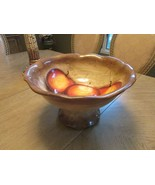 TABLETOPS LIFESTYLE CERAMIC HAND PAINTED CRAFTED LARGE PEDESTAL BOWL FRU... - $18.76