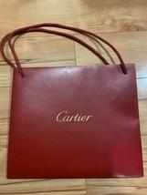 "Cartier Red Paper Shopping Bag 10"" x 9"" x 3.5"" - $13.99"