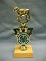 4H county fair trophy sheep on riser award personalized - $3.99