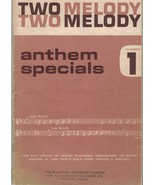 Sheet Music - Two Melody Anthem Specials ~ 1953 ~ 17 Songs - $16.78