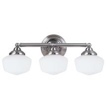 Sea Gull 44438EN-962 Academy 3-Light Vanity Light Fixture, Brushed Nickel - $95.00