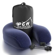 Travel Neck Pillow by PGH w/ Memory Foam, Travel Pillowcase, Blue Velour... - $386,24 MXN