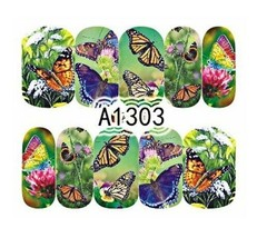 Water Transfer Watermark Art Nails Decal Sticker Manicure Butterfly Flow... - $1.83