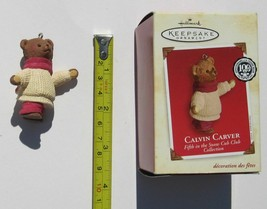 Hallmark Keepsake Calvin Carver Christmas Ornament Teddy Bear Snow Cub i... - $3.46