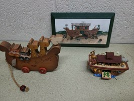 Noahs Ark Collectable Lot - Hallmark Ornament, Wall hanging, & Display p... - $14.74