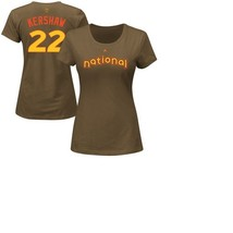 NEW MLB Women's Los Angeles Dodgers Clayton Kershaw Majestic ASG T-Shirt SIZE S - $5.00