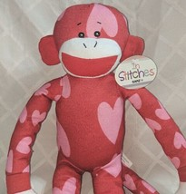 GANZ HV9194 In Stitches Red And Pink Heart Monkey 17 inch Ages 3 Plus image 2